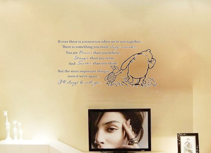 Classic Winnie the Pooh If ever there is a tomorrow baby wall decals ...