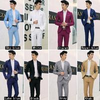 Men Formal Terno Masculino Wedding Bridegroom Slim Suit One Button Fit Jacket Tuxedos Coat Pants