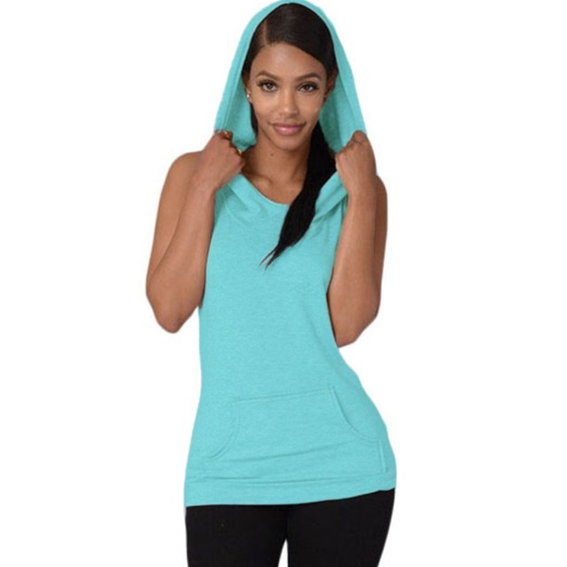 Camisa com capuz t mulheres verão 2016 casual cruz sem encosto colete luz azul sem mangas roupas top mulheres vestidos de novia 25802