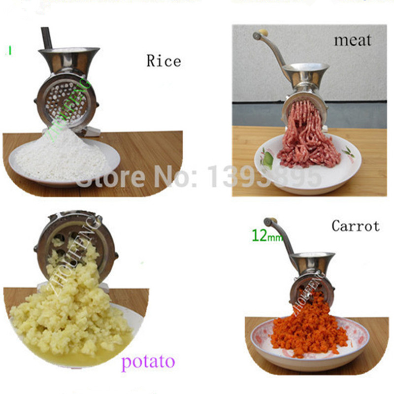 Home use stainless steel manual meat grinder potato garlic noodle extruding machine ZFHome use stainless steel manual meat grinder potato garlic noodle extruding machine ZF