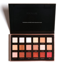 FOCALLURE 18 Colors Pearlized Color Eyeshadow Powder Eye Shadow Palette Set uneasy to fade High quality ingredients Anne