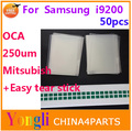 50pcs Free Shipping 6.3'' inch OCA optical clear adhesive. double side sticker for Samsung Galaxy Mega 6.3 i9200. 250um thick