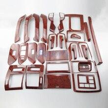 30 Pcs For Toyota Land Cruiser 150 Prado LC150 FJ150 2010-2017 Interior Wooden Moulding Trim Car Styling Accessories