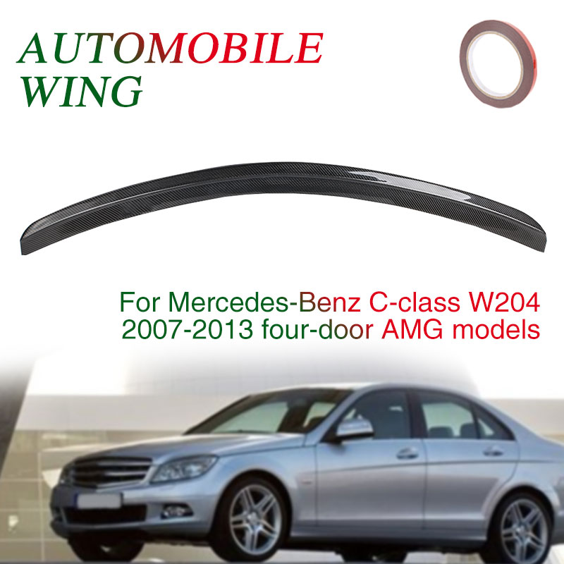 Багажник заднее крыло AMG стиль 4D спойлер крыло хвост автомобиля крыло черный автомобиль украшение для Mercedes-Benz C Класс W204