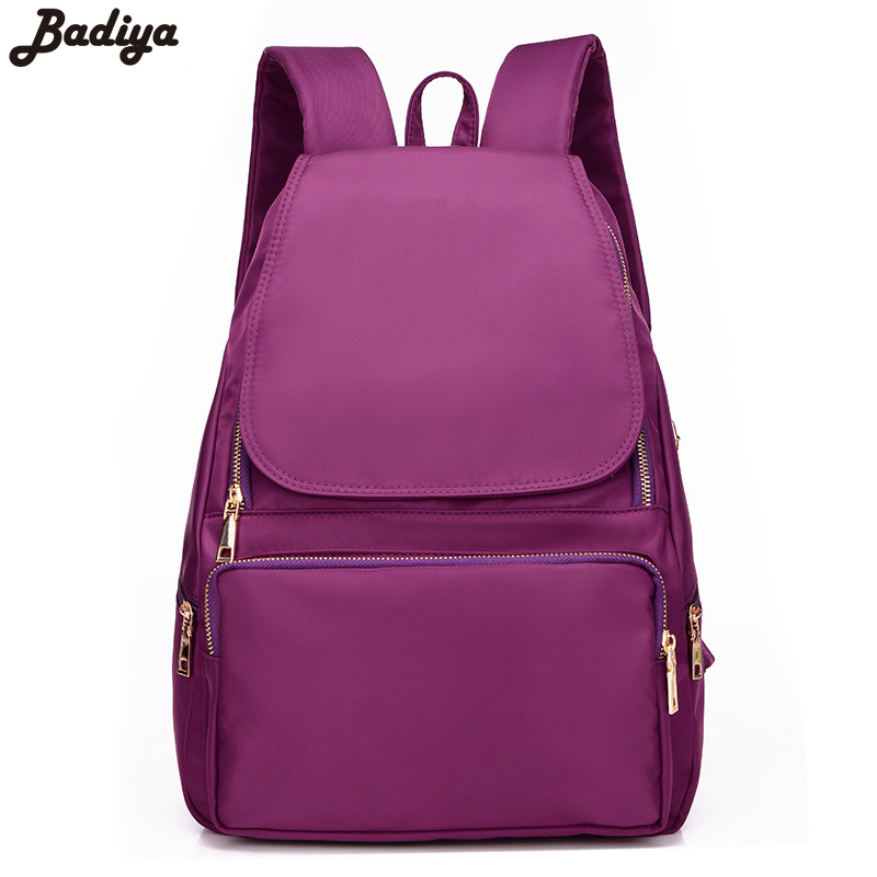 New School Bags for Teenagers Girl Nylon Oxford Cloth Backpack Solid Bags Travel Duffle Sac Handbags Women Mochila Escolar Bags
