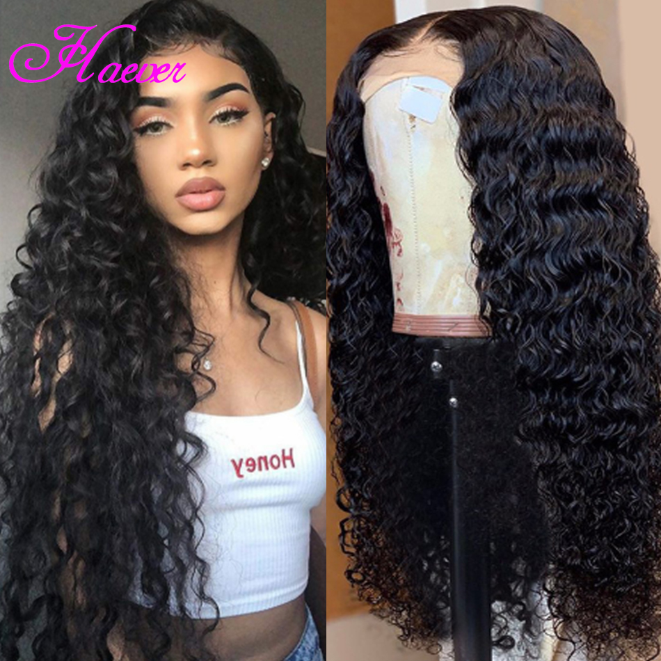 Preplucked 13x4 Deep Part Lace Front Human Hair Wigs Full Ends Curly Wig Peruvian Virgin Hair Frontal Wigs For Black Women Wave(China)