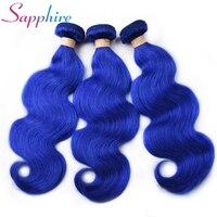 Sapphire Peruvian Remy hari Brazilian Body wave hair Bundles Blonde Weave 100%Human Hair 1/3/4 Deal Dyed Extensions free shiping