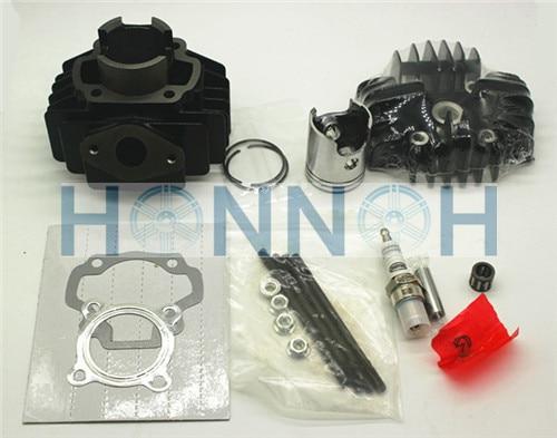 ФОТО NEW Cylinder Barrel Piston Ring Gasket Set For YAMAHA PW 50 PW50 QT 50 QT50 NEW Cylinder Rebuild Kit