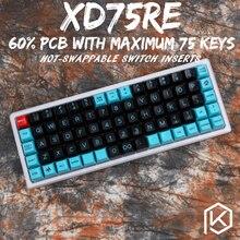 Xd75re xd75am xd75 주문형 기계식 키보드 75 키 언더그로 RGB PCB GH60 60% 프로그래밍 된 gh60 kle planck 핫 스왑 가능 스위치