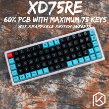 xd75re xd75am xd75 Custom Mechanical Keyboard 75 keys Underglow RGB PCB GH60 60% programmed gh60 kle planck hot-swappable switch(China)