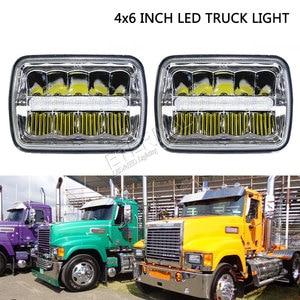 Image 5 - Envío gratis 4x6 LED faro 45W camión faro H4 led kit H4651/H4652/H4656/H4666/H654 camiones de servicio pesado remolque transporte