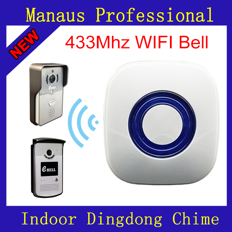 High Quality WIFI 433MHz learning code eBELL Dingdong Chime Wireless Doorbell Home Indoor Bell for eBell Video Intercom Matching wireless service call bell system popular in restaurant ce passed 433 92mhz full equipment watch pager 1 watch 7 call button