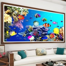 Diamond Painting Animal Full Drill Square Embroidery Seabed Picture Rhinestone Mosaic Decor Home Gift
