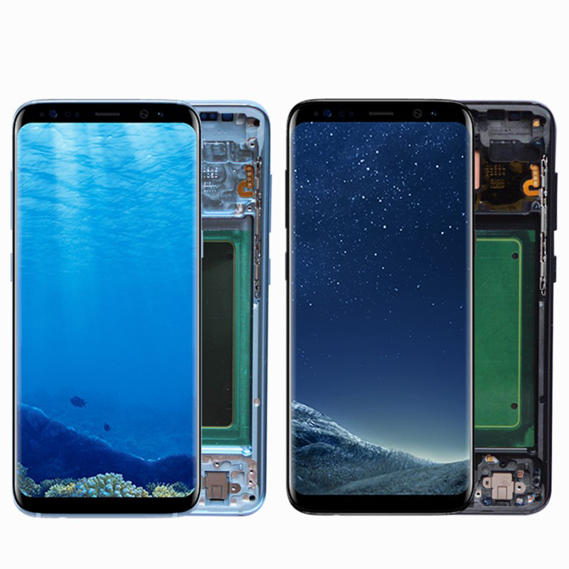 Original Burn Shadow LCD For Samsung S8 G950 G950U G950F S8 Plus G955 G955F Display Touch Original Burn-Shadow LCD For Samsung S8 G950 G950U G950F S8 Plus G955 G955F Display Touch Screen Digitizer Assembly With Frame