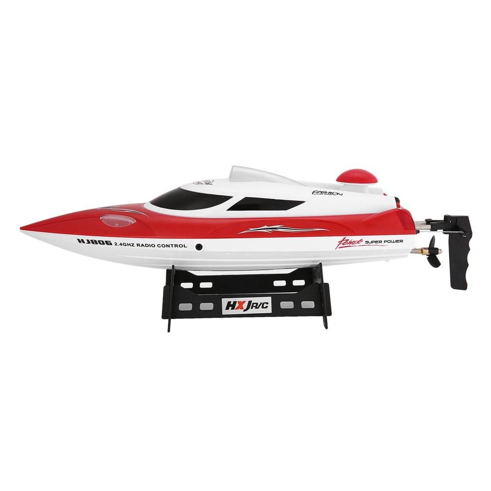 HONGXUNJIE RC hors-bord 2.4G 30 km/h haute vitesse bateau de course système de refroidissement par eau renversé tension omnidirectionnelle Promp modèle jouet