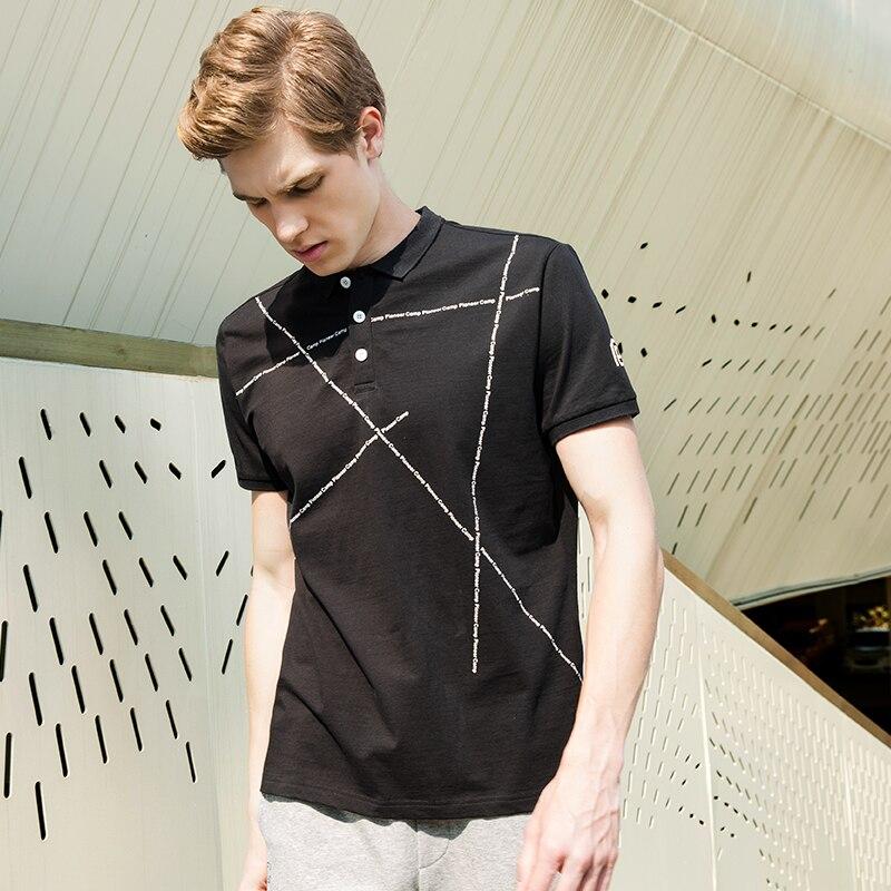 c256772771 Campamento de pioneros nueva moda negro camisas de polo de los hombres de  marca de ropa Polo de manga corta Hombre calidad elástico casual Polo  ADP705057 en ...