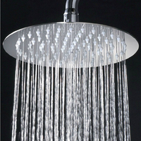 Modern 304 Stainless Steel Polished Chrome Shower Nozzle Shower Rain Booster Top Spray Shower Head Bathroom Accessories HO0
