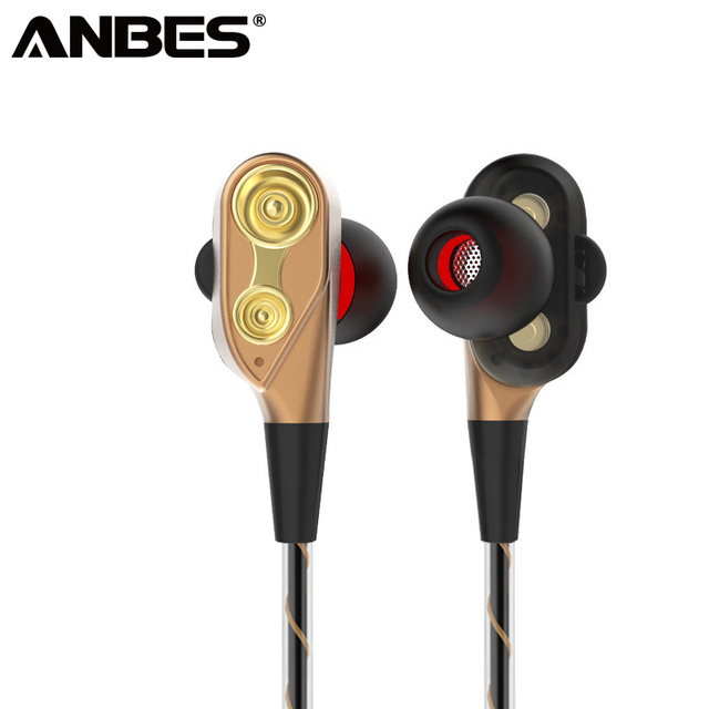 86a1762b968 ANBES V3 Wired Earphone High Bass Dual Drive Stereo In-Ear Earphones  Headphone With Microphone Computer Earbuds For Phone Sport