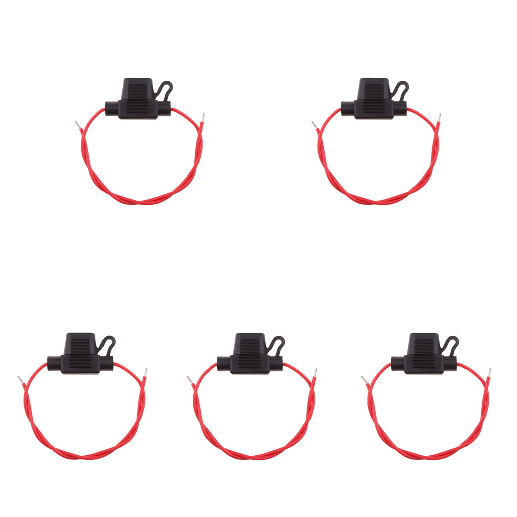 Image 5 - 5 Pcs/Set Car Blade Fuse Holders With Wire Car Fuses 18 AWG ATM/APM Blade Inline Fuse Holder For Car Boat Truck RV Etc-in Fuses from Automobiles & Motorcycles