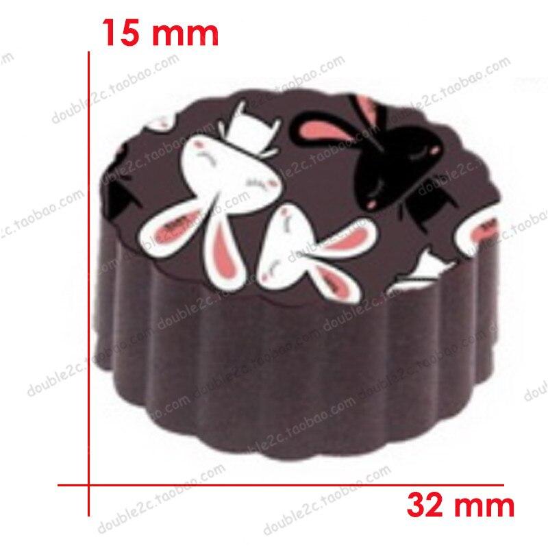 1 шт. DIY Шоколад Плесень 15 чашки (20 г) Roundnes Магнитная форма с передачи простыни шоколад из нержавеющей сахар штамп бумага