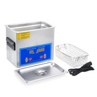 Practical Stainless Steel 3.2L Liter Industry Heated Ultrasonic Cleaner Heater Timer High Efficiency Cleaning Tool