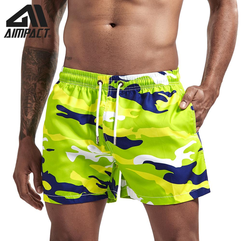 Aimpact Fast Dry Board Shorts For Men Summer Holiday Beach Surfing Swimming Trunks Male Running Jogging Workout Shorts AM2166
