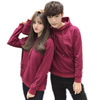 Pure Cotton Couples Hoodies Boys Girls Fashion Solid Color Men's Sweatshirt Fruit Embroidery Women's Hoody Sweatshirts Men Women