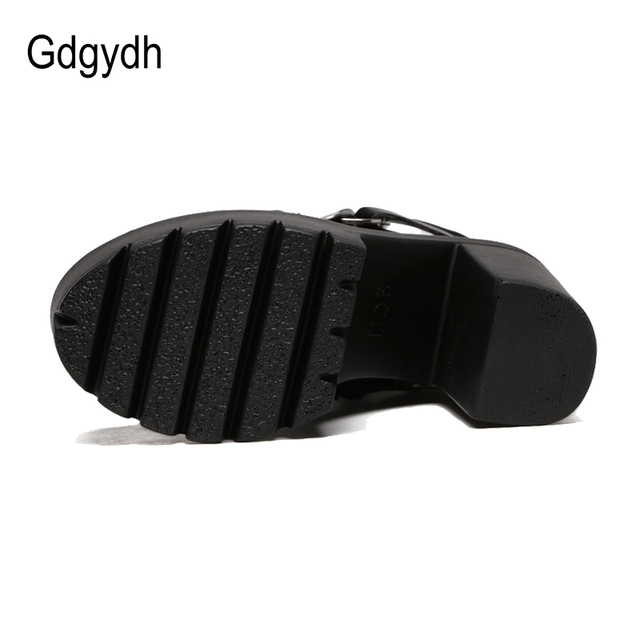 Gdgydh Fashion Black Boots Women Heel Spring Autumn Lace-up Soft Leather Platform Shoes Woman Party Ankle Boots High Heels 3