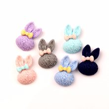 LF 30Pcs Resin Rabbit Decoration Crafts Flatback Cabochon Embellishments For Scrapbooking Kawaii Cute Diy Accessories(China)