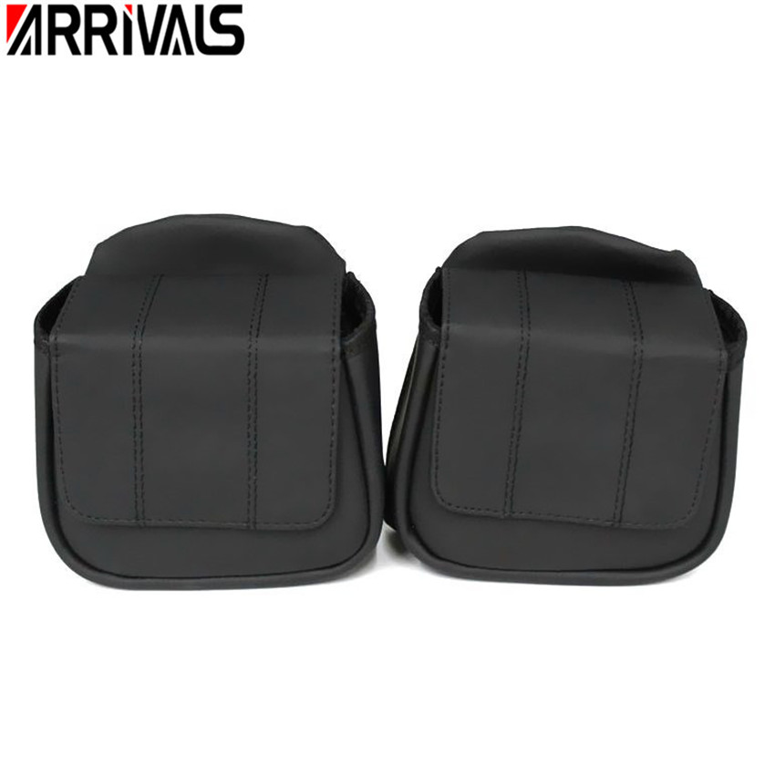 Free shipping Motorcycle Lower Vented Leg Fairing Glove Box Tool Bag For Harley Touring Road Glide 2014 2018 One Pair