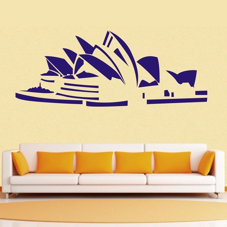 free shiping sydney opera house wall decor removable vinyl home