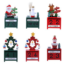 Min Wood Christmas Advent Calendars Christmas Decorations for Home Xmas Ornament Creative Children's Christmas Gifts(China)
