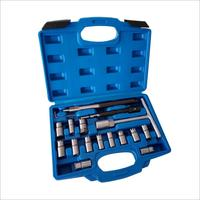 17 PCS Diesel Injector Cleaner Clean Carbon Remover Seat Cutter Cutting Tool Set SK1364