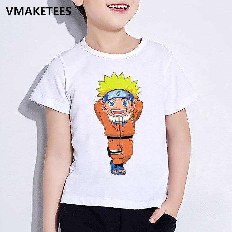 Kinder Sommer Kurzarm Mädchen & Jungen T shirt Kinder Uzumaki Naruto Cartoon Print T-shirt Anime Lustige Baby Kleidung, ooo2244