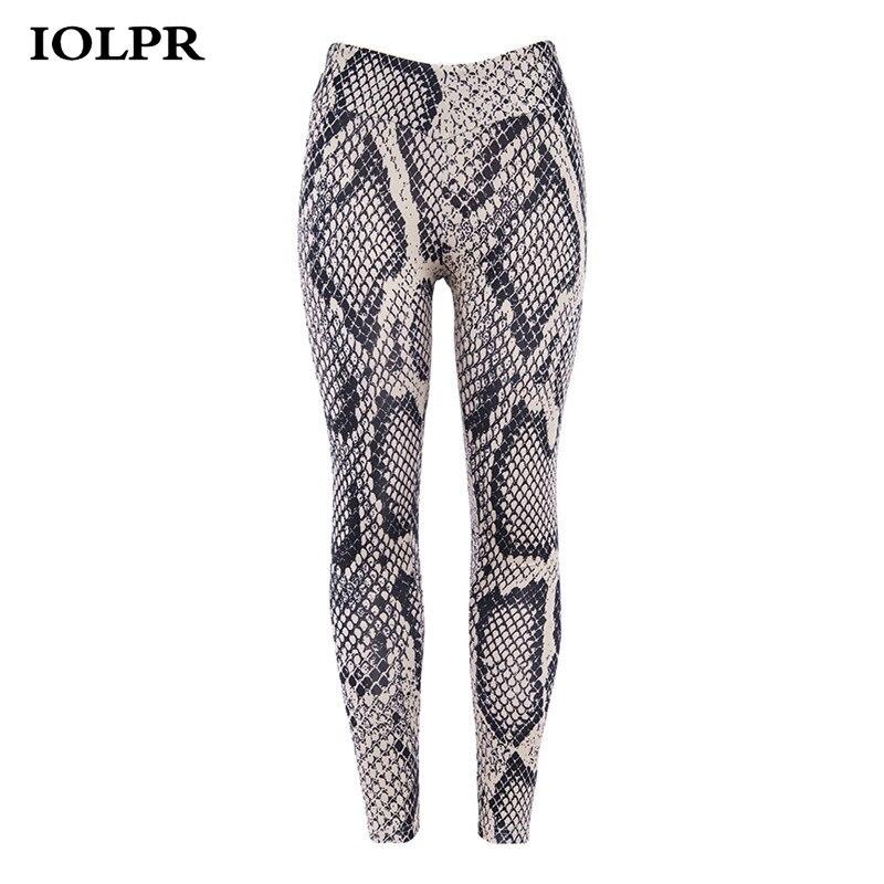 IOLPR 2018 Snake Print Sexy Women Fitness Leggings Push Up Quick Dry High Waist Workout Legging Sporting Clothing Pants Leggins leggings