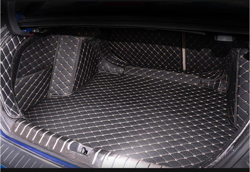 Full Rear Trunk Tray Liner Cargo Mat Floor Protector foot pad mats for 16-17 18 HONDA CIVIC 2016 2017 2018 (6colors)