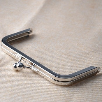 6 x 3 inches (15 x 7.5 cm) Large Nickel Clutch Frame with Standard Ball Clasp Metal Silver Purse Frame 12pcs/lot