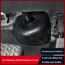 QHCP Car Cab Steering Shaft Protect Cover Trim Protective Steering Shaft PP Material Black Fit For Toyota Camry 2018 Accessories