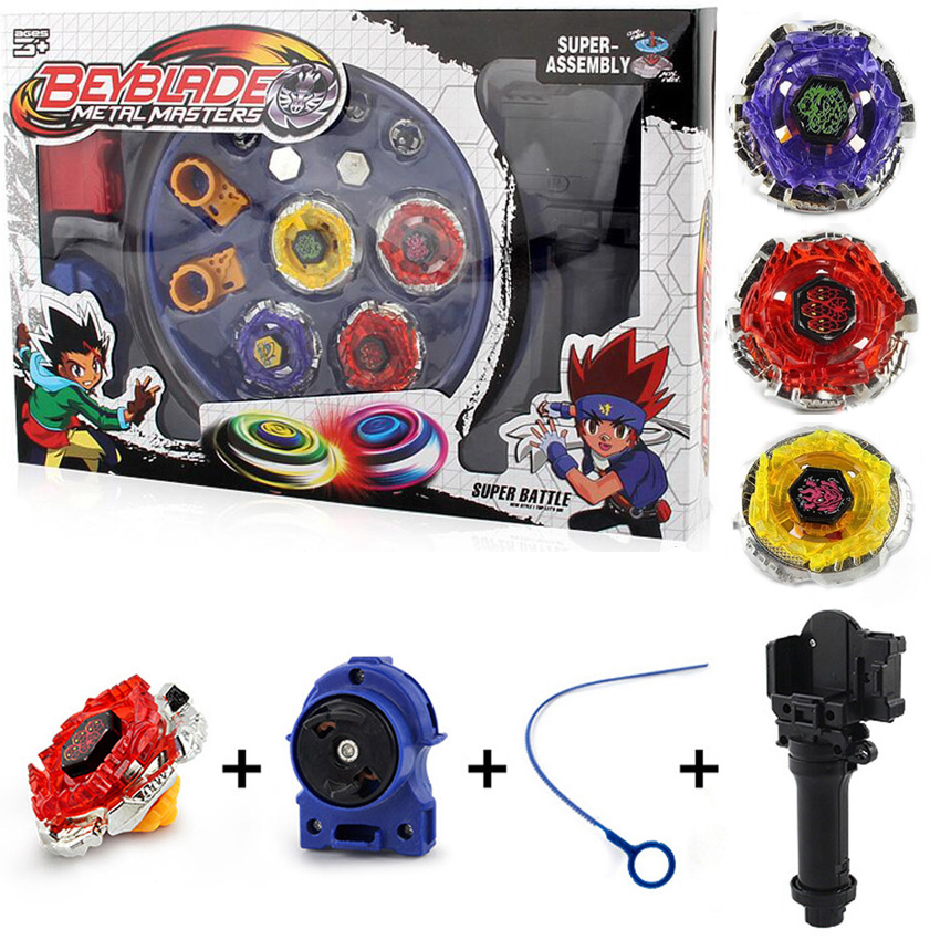 4pcs/set Beyblade Arena Spinning Top Metal Fight Childrens Toys Beyblad Beyblade Metal Fusion Christmas gift