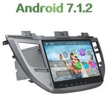 "2 din Android 7.1.2 Quad core 10.1"" 2GB RAM 16GB ROM GPS Navigation Car radio player bluetooth For Hyundai IX35 TUCSON 2015"