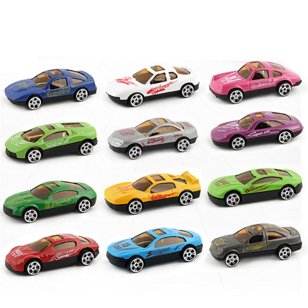New 12 PCS Skiing Alloy Car Models Toy Cars Diecast Metal Alloy Toys Model Car Birthday Gift For Kids