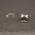 Bow Micro Pave Cubic Zirconia Tou Bear Earrings Studs Gold Earings Fashion Jewelry Women Classic Earrings Animals/Pendientes Oso