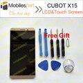 Cubot x15 lcd oro pantalla 100% de visualización original del lcd + pantalla táctil para cubot x15 smartphone en stock envío gratis