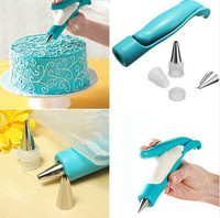 Pastry Nozzle Tips SugarCraft Fondant Cake Icing Piping Bag Decorating Pen Set(Blue) Cake Molds