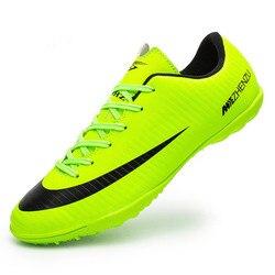 ZHENZU Profissional futsal shoes chuteira futebol Homens Turf Superfly Chuteiras Indoor Soccer Shoes Chuteiras Crianças Originais Sapatilhas chaussure de pé