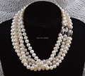 Free shipping Natural 8.5-9mm Baroque fresh water pearl necklace