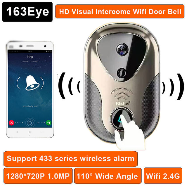 Free shipping!Wireless Wifi Remote Video Monitor Phone Intercom Doorbell Home Security Monitor