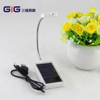 Creative USB Dual Solar Charging Clip Lamp Led Lamp Mini Dorm Bed Reading Book Lights