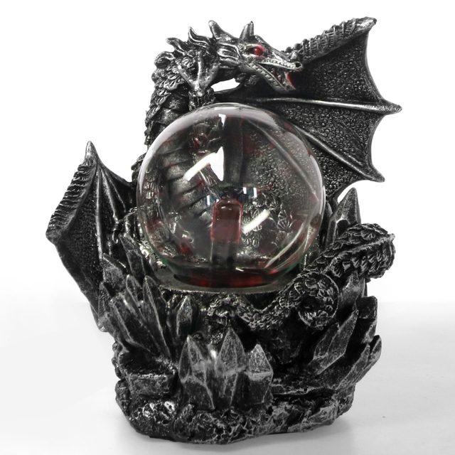 Medieval Dark Dragon Guardian Novelty Desk Lamp