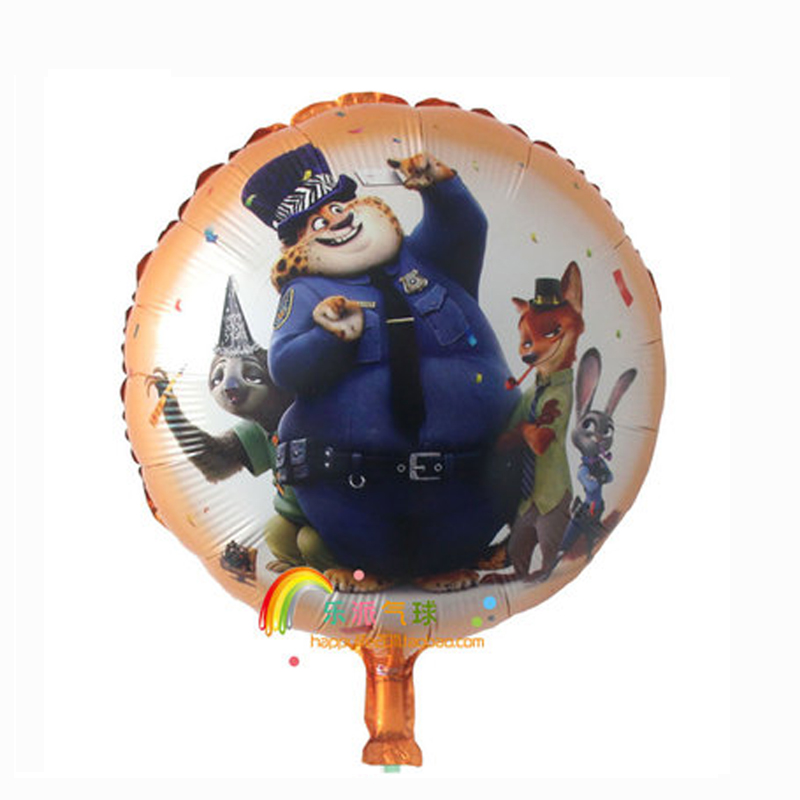 Inflatable Foil Helium Zootopia Party Balloons Decoration Supplies Cartoon Animal Children Kids Baby Birthday In Ballons Accessories From